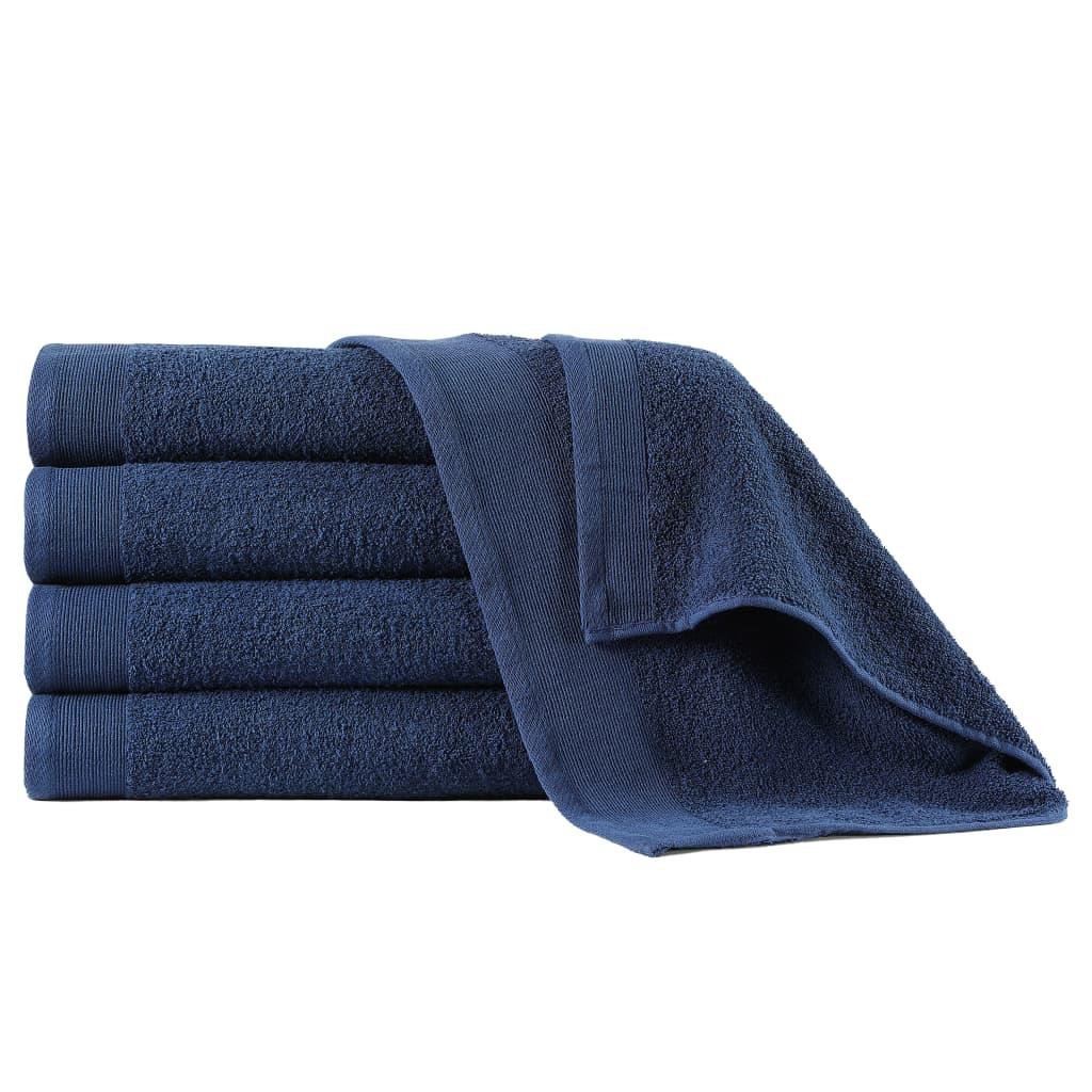 vidaXL Sprchové uteráky 5 ks námornícke modré 70x140 cm bavlnené 450 g/m2