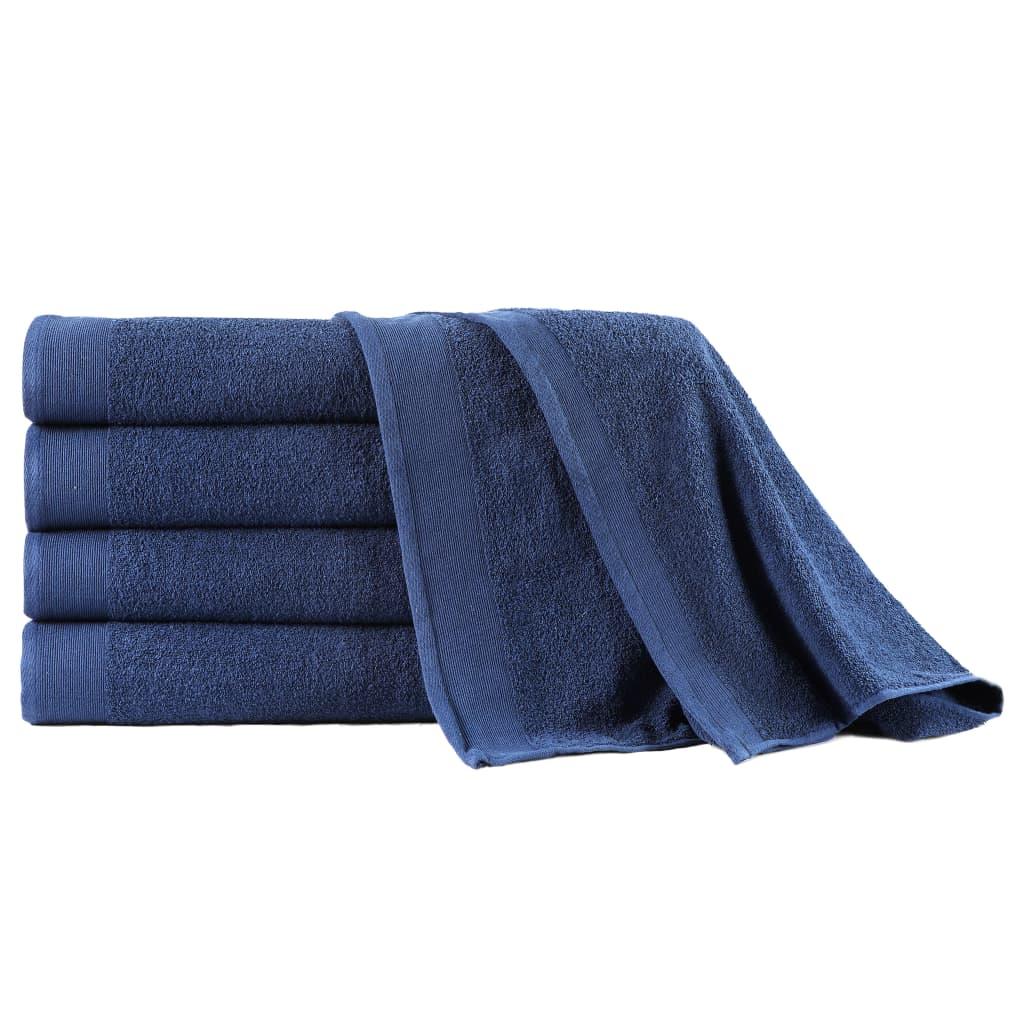vidaXL 5-dielna sada kúpeľňových uterákov námornícka modrá 100x150 cm bavlnená 450 g/m2