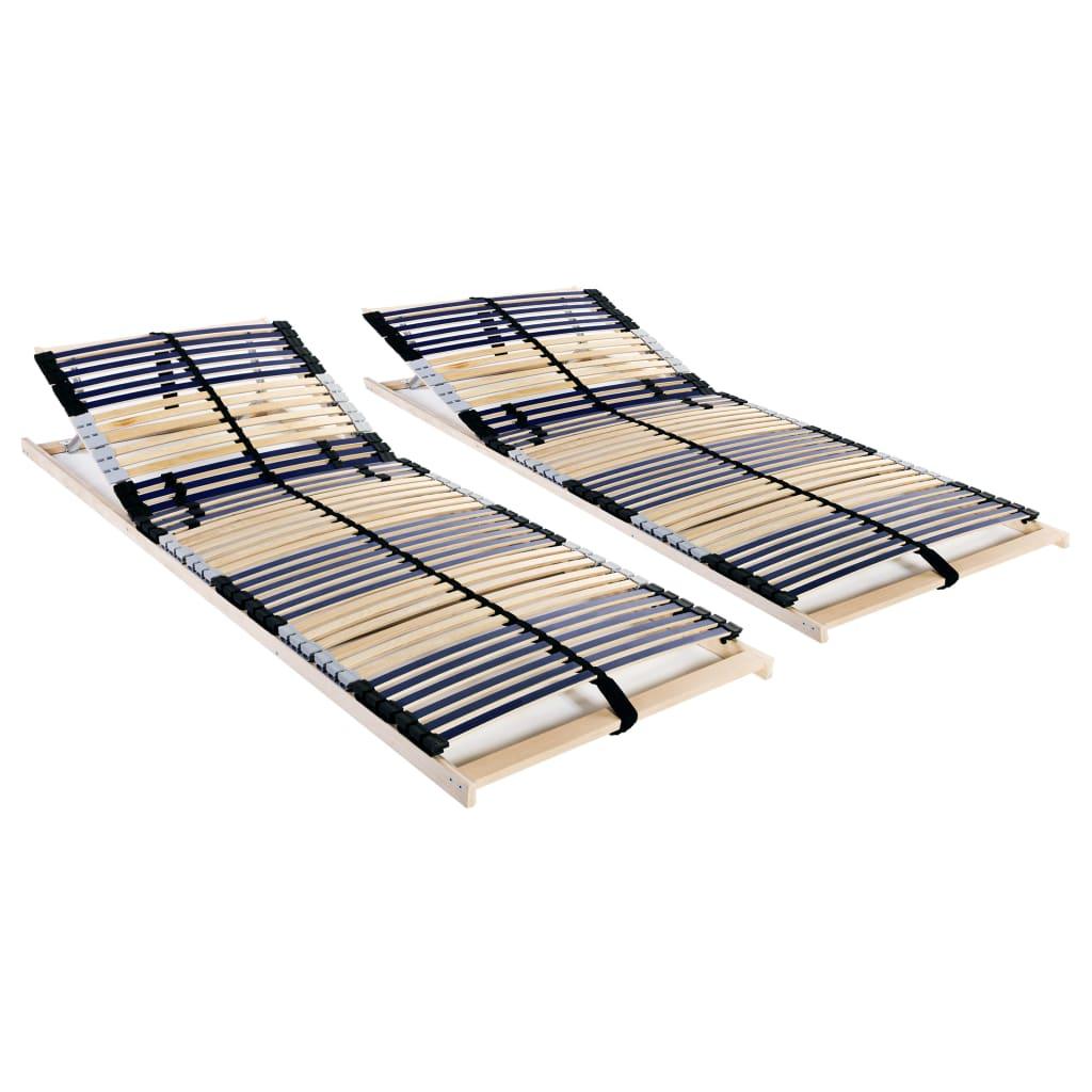 vidaXL Lamelové posteľné rošty 2 ks so 42 lamelami a 7 zónami 70x200cm