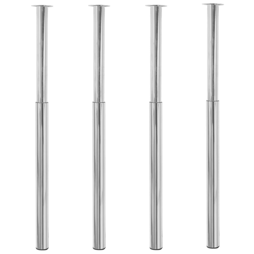 vidaXL Teleskopické stolové nohy 4 ks chrómové 710 mm – 1100 mm