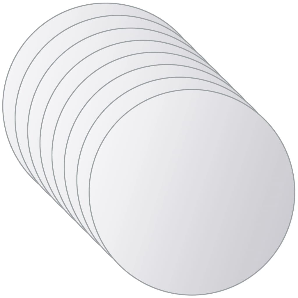 vidaXL 16 ks zrkadlové kachličky sklenené okrúhle