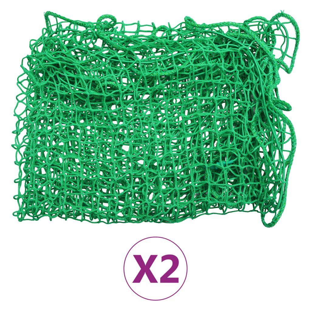 vidaXL Úchytné siete na prívesný vozík 2ks 1,5x2,2 m PP