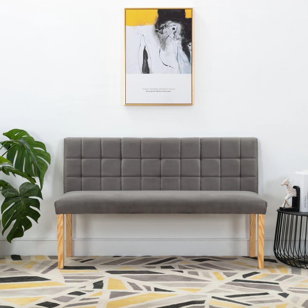 vidaXL Lavica 140 cm sivá látková