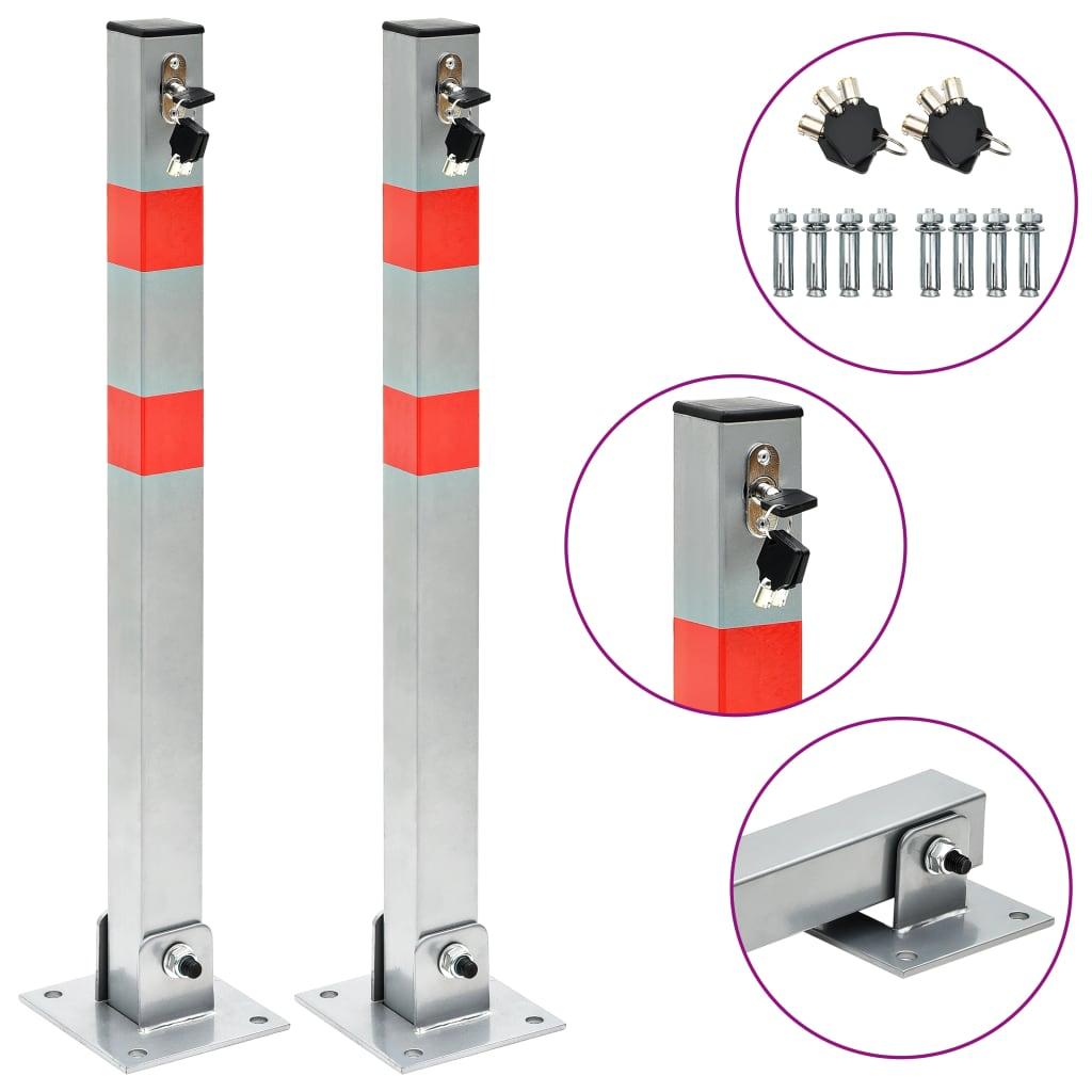 vidaXL Parkovacie stĺpiky so zámkami 2 ks