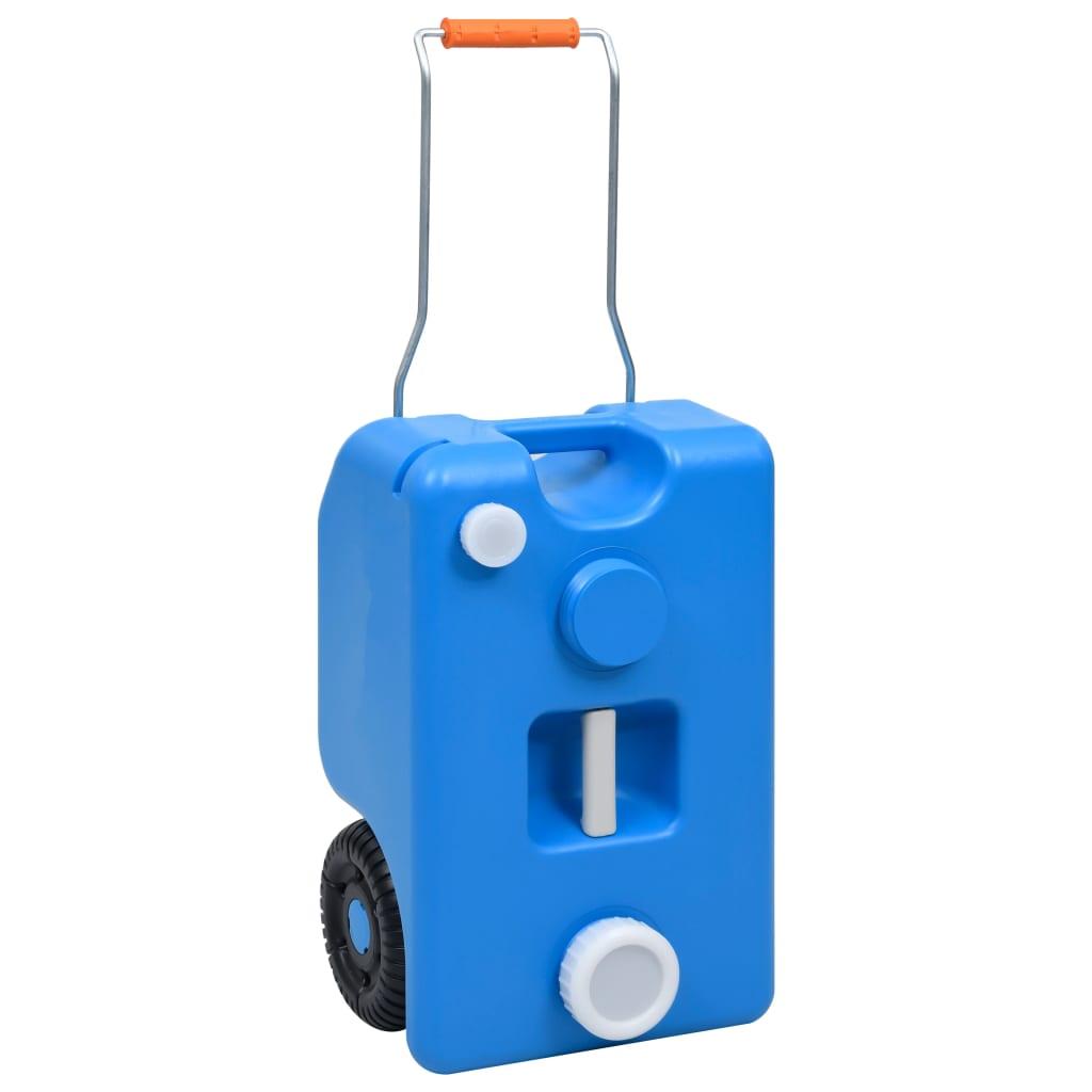 vidaXL Nádrž na vodu na kolieskach pre kempovanie modrá 25 l