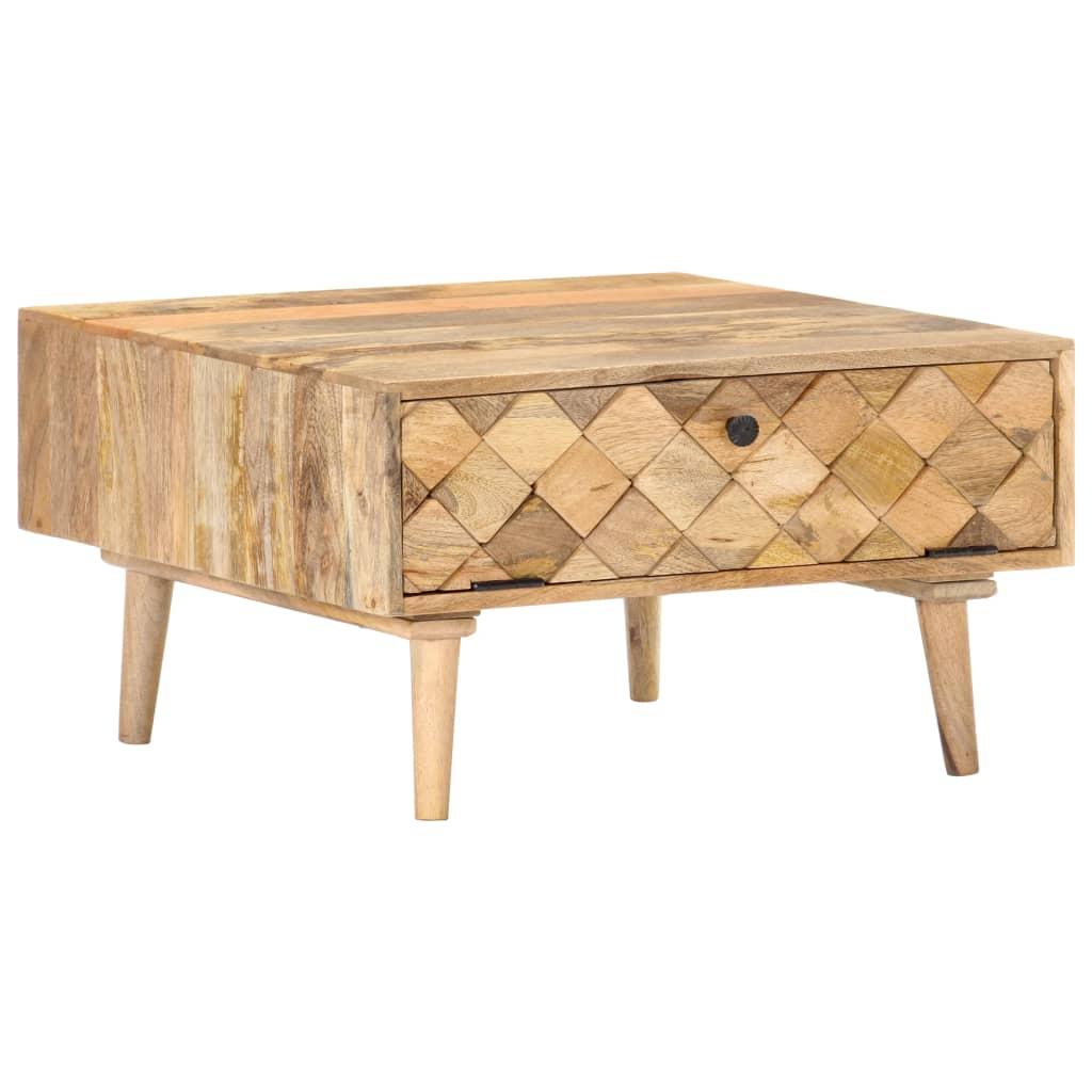 vidaXL Konferenčný stolík 68x68x38 cm masívne mangovníkové drevo