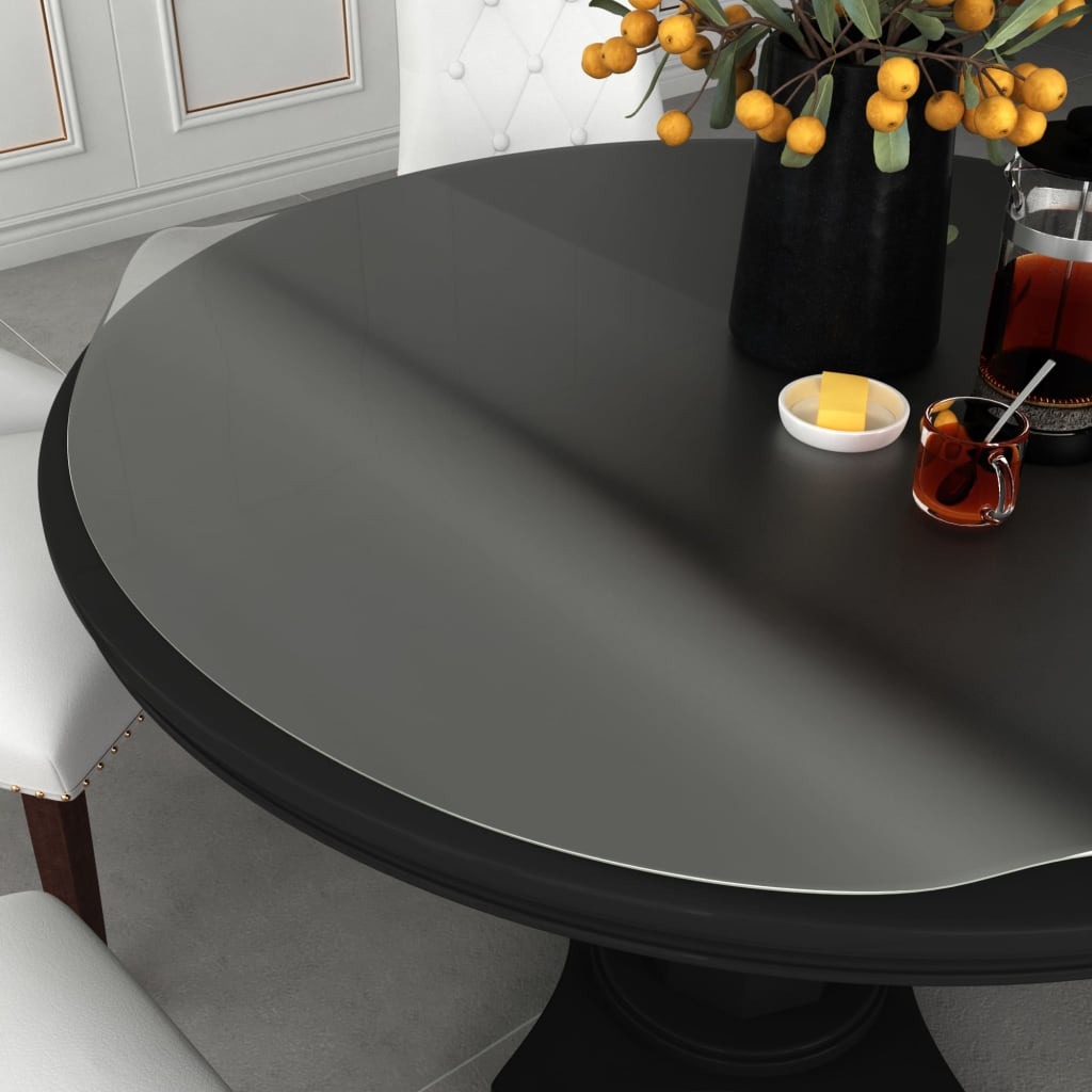 vidaXL Chránič na stôl matný Ø 80 cm 2 mm PVC