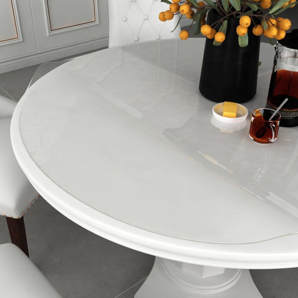 vidaXL Chránič na stôl priehľadný Ø 90 cm 2 mm PVC