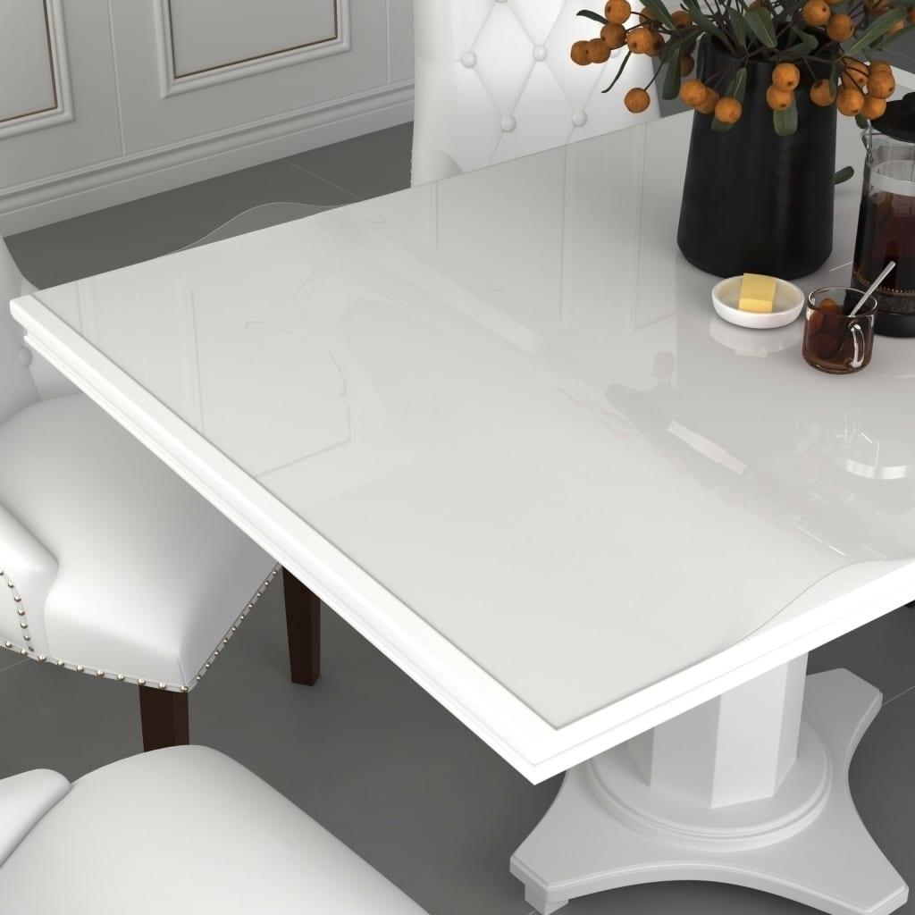 vidaXL Chránič na stôl priehľadný 80x80 cm 2 mm PVC