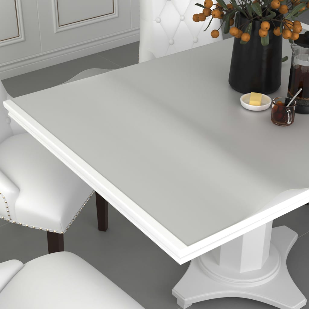 vidaXL Chránič na stôl matný 80x80 cm 2 mm PVC