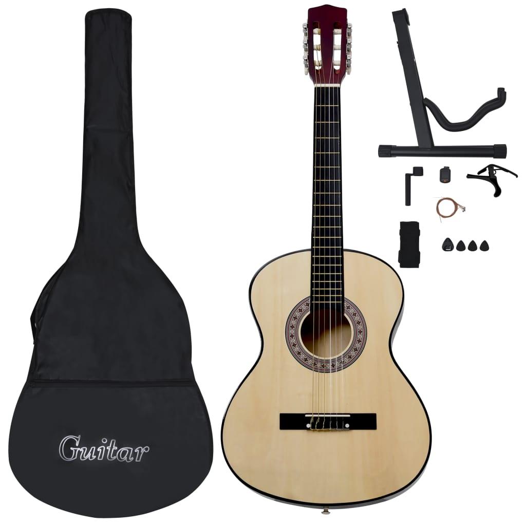 vidaXL 12-dielna klasická gitarová sada pre začiatočníkov 4/4 39