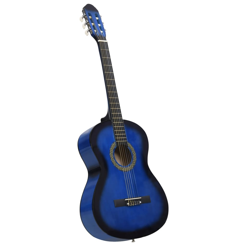 vidaXL Klasická gitara pre začiatočníkov modrá 4/4 39