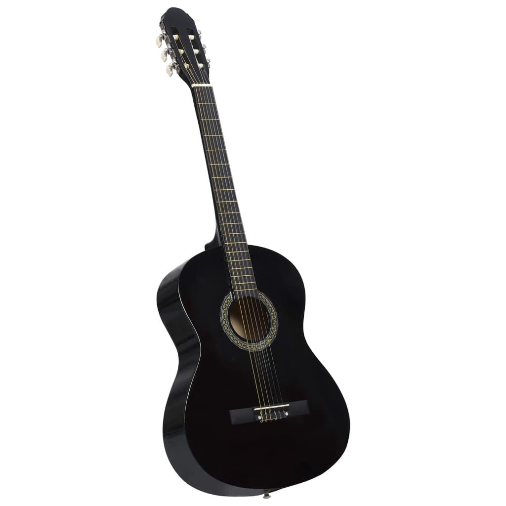 vidaXL Klasická gitara pre začiatočníkov čierna 4/4 39