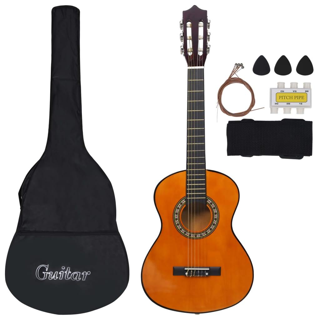 vidaXL 8-dielna klasická gitarová sada pre deti a začiatočníkov 1/2 34