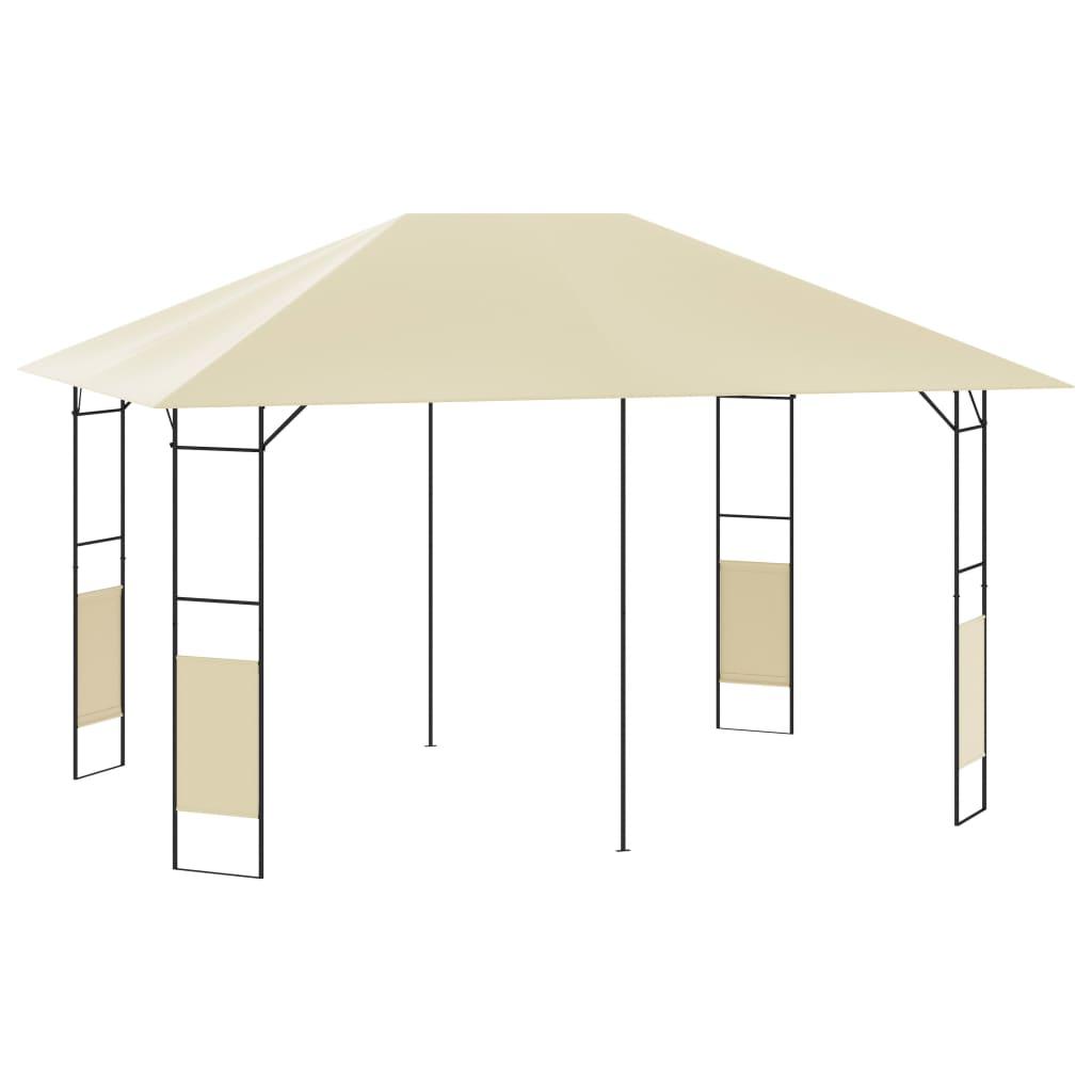 vidaXL Záhradný altánok 4x3 m krémový 160 g/m²