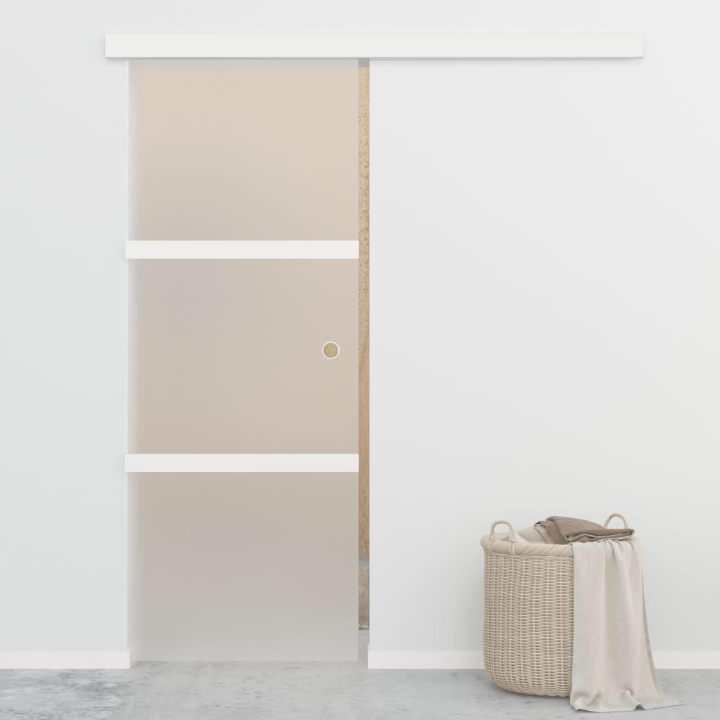vidaXL Posuvné dvere s jemným zatváraním ESG sklo a hliník 76x205 cm