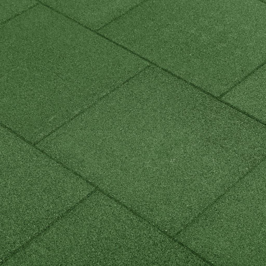 vidaXL Protipádové dlaždice 12 ks zelené 50x50x3 cm gumené