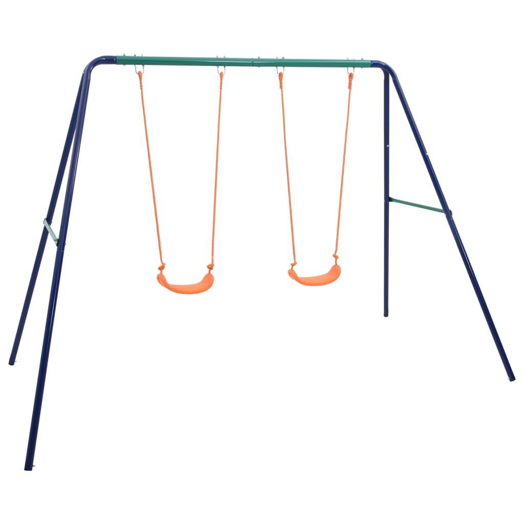 vidaXL Súprava hojdačiek s 2 sedadlami oceľová