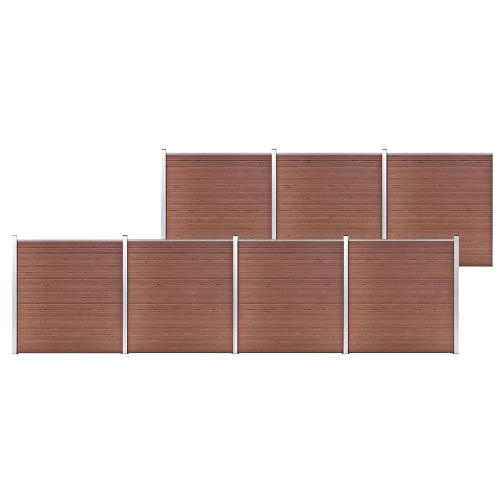 vidaXL Záhradný plot hnedý 1218x186 cm WPC