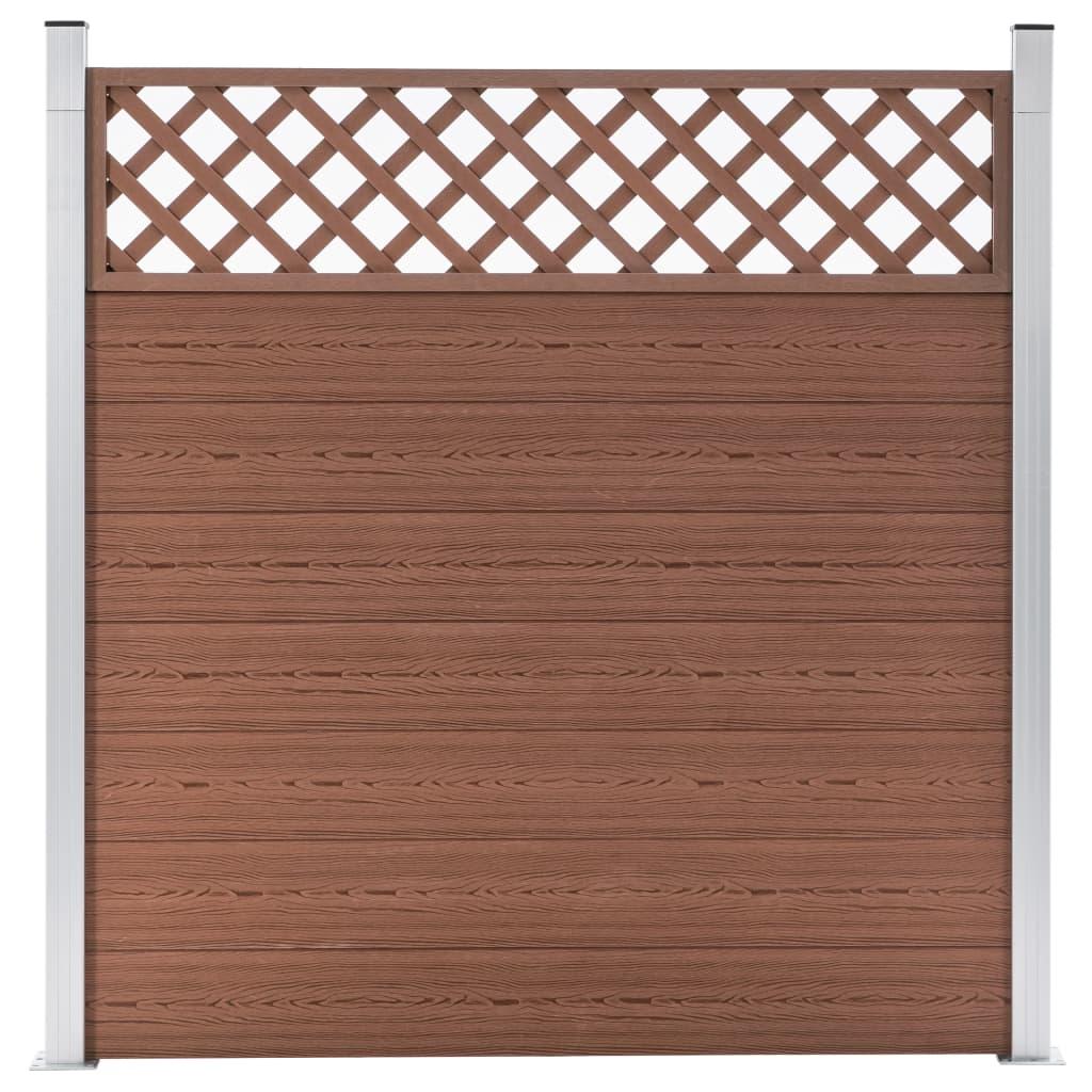 vidaXL Záhradný plot, WPC 180x185 cm, hnedý