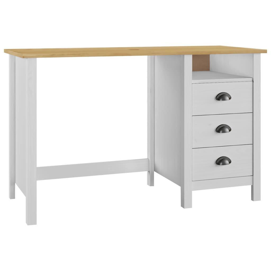 vidaXL Stôl Hill Range s 3 zásuvkami 120x50x74 cm borovicový masív