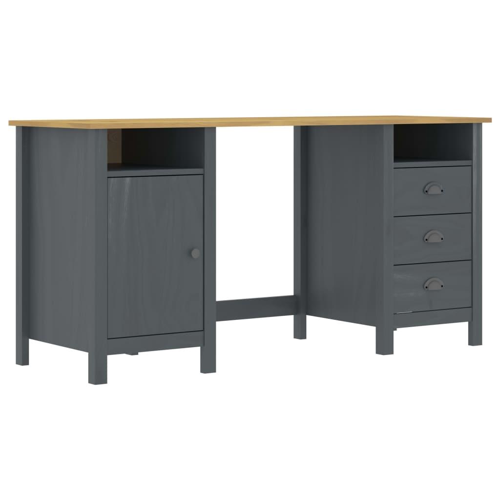vidaXL Stôl Hill Range sivý 150x50x74 cm borovicový masív