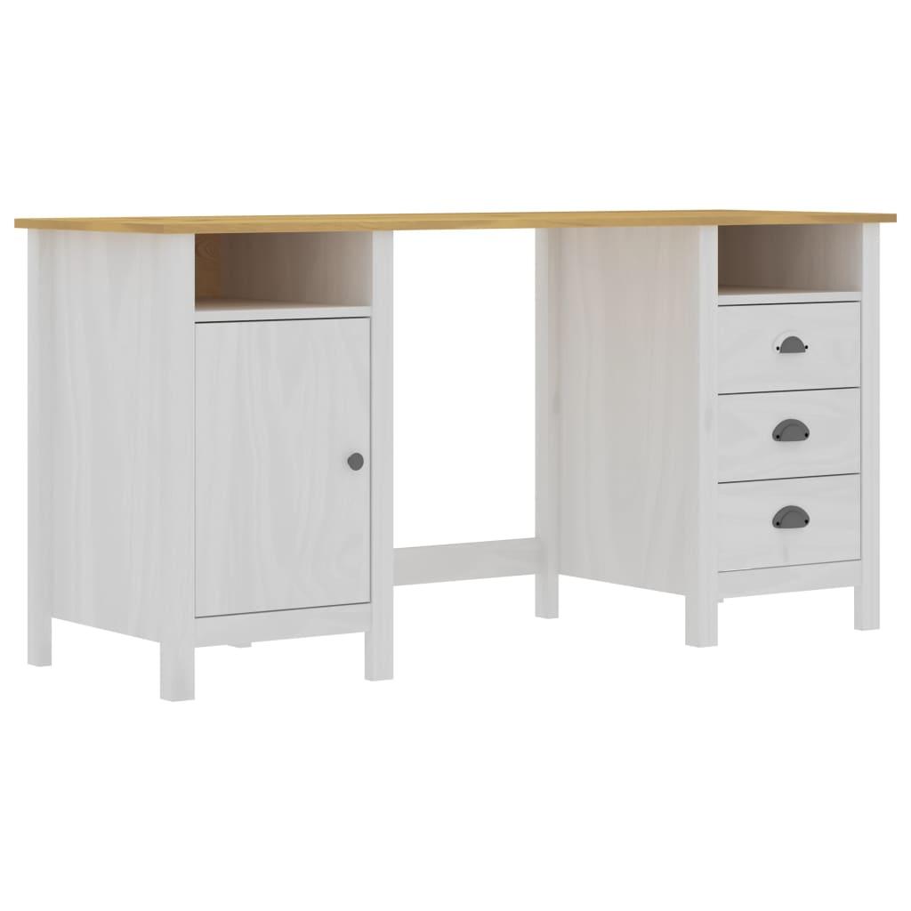 vidaXL Stôl Hill Range biely 150x50x74 cm borovicový masív