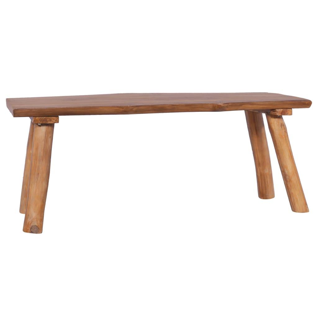 vidaXL Záhradná lavička 120 cm teakový masív