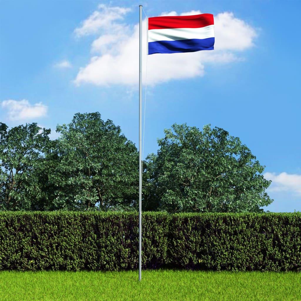 vidaXL Holandská vlajka a stĺp 6,2 m hliník