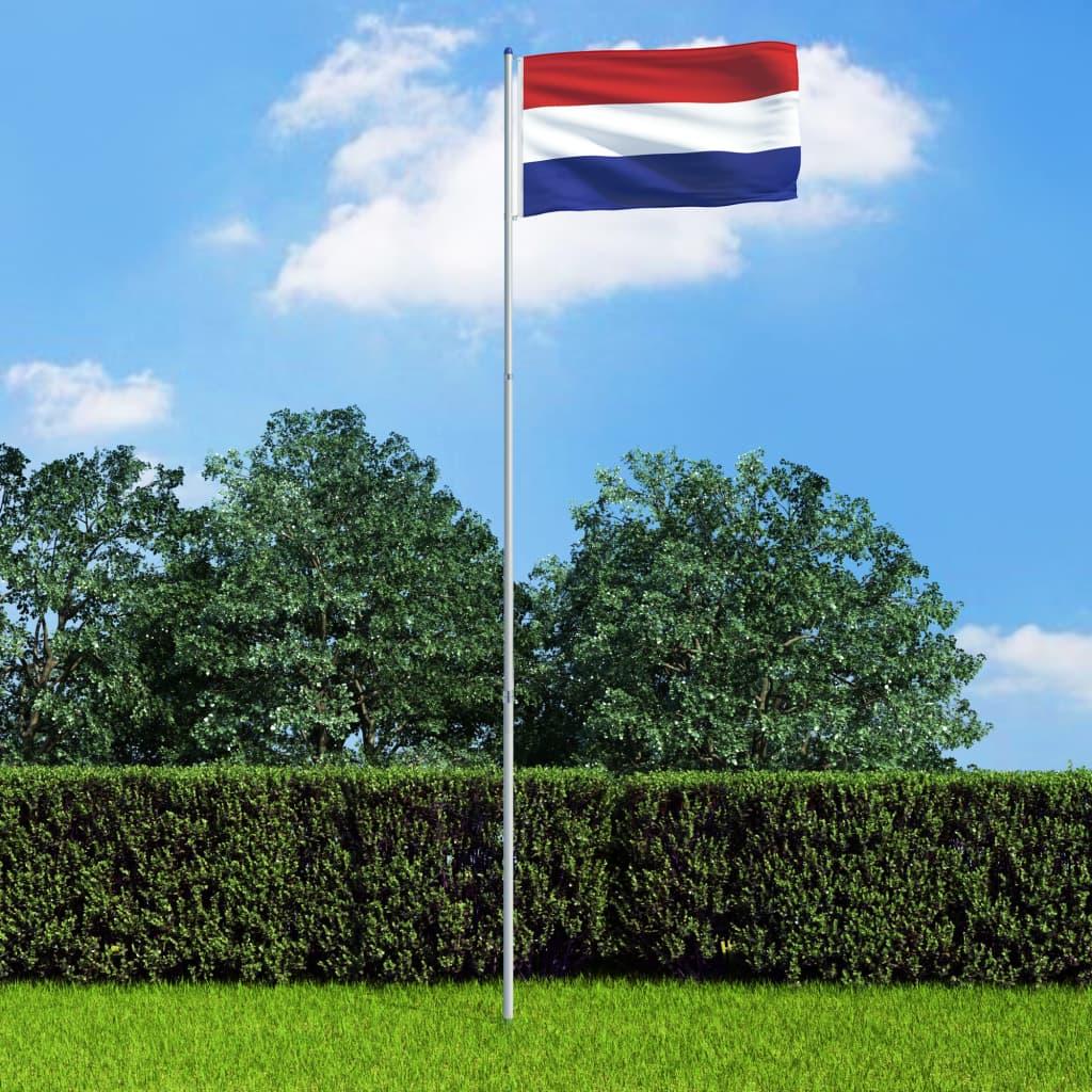 vidaXL Holandská vlajka a stĺp 6 m hliník