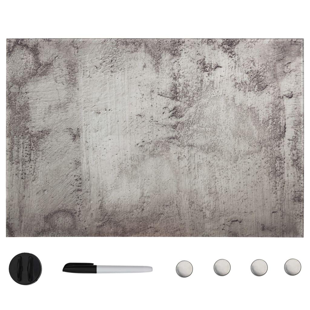 vidaXL Nástenná magnetická tabuľa sklenená 50x30 cm