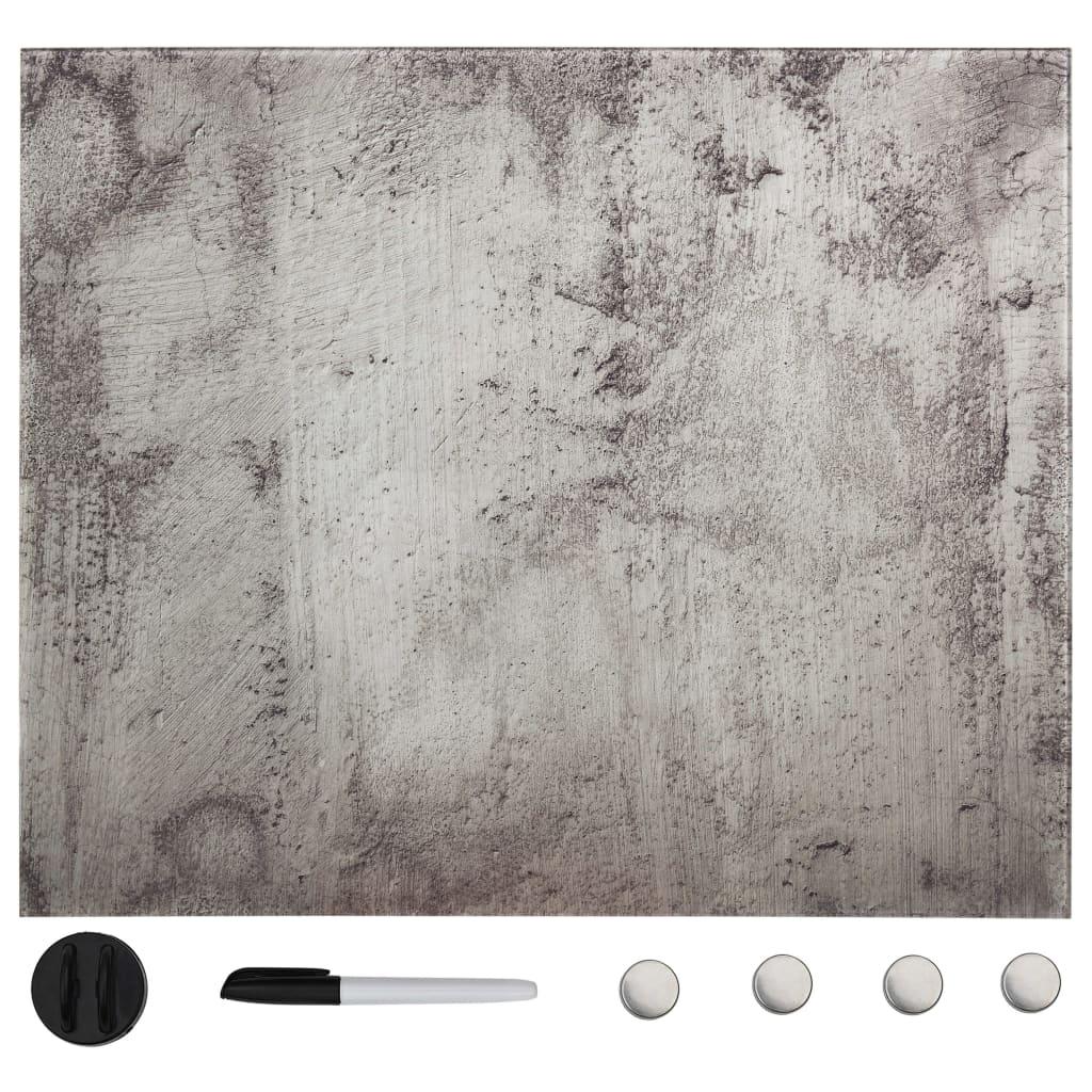 vidaXL Nástenná magnetická tabuľa sklenená 60x60 cm