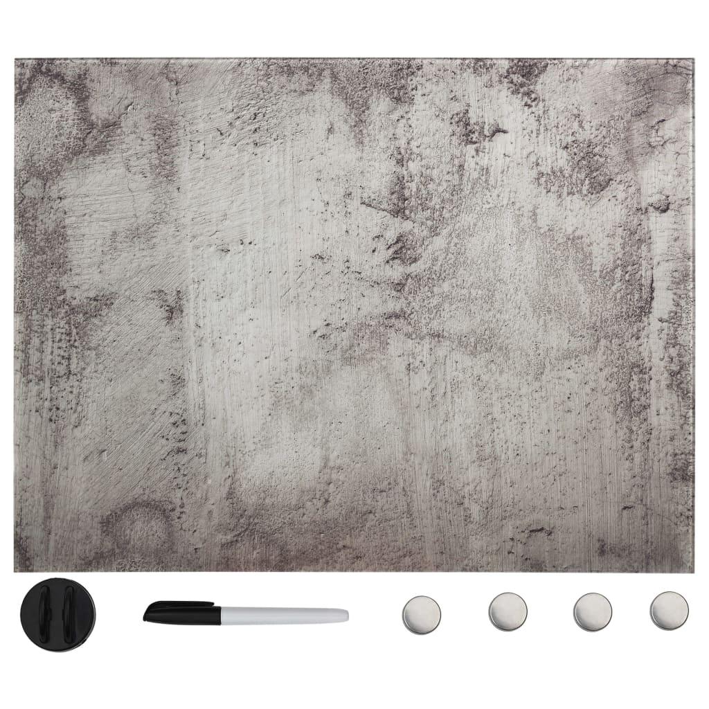 vidaXL Nástenná magnetická tabuľa sklenená 80x60 cm