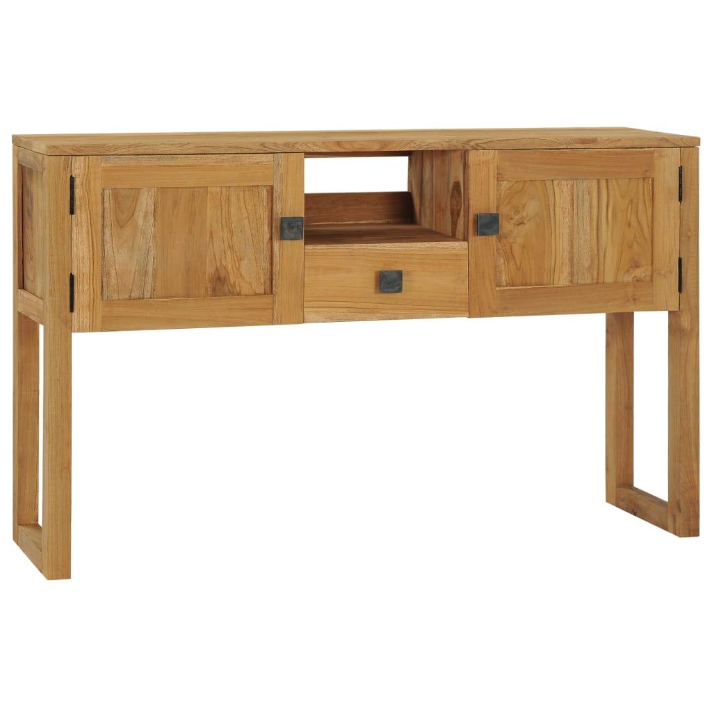 vidaXL Konzolový stolík 120x32x75 cm masívne teakové drevo