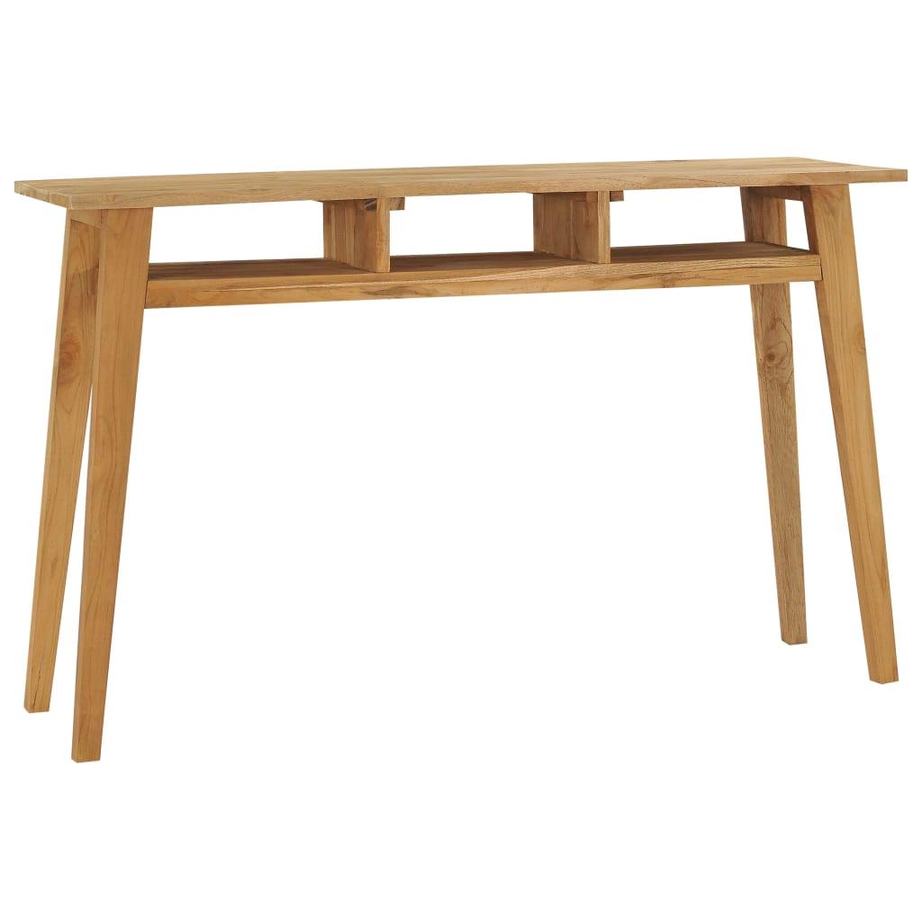 vidaXL Konzolový stolík 120x35x75 cm tíkový masív