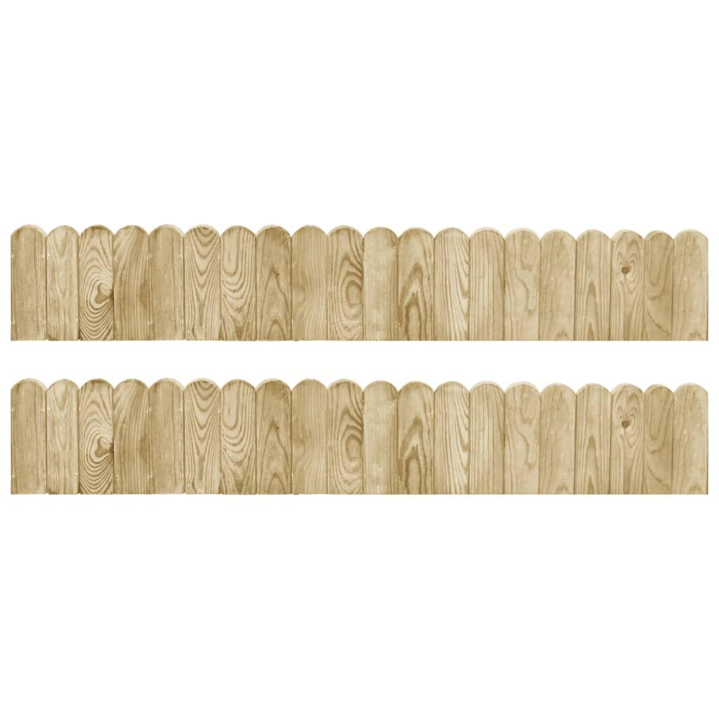 vidaXL Trávnikové lemy 2ks 120 cm impregnované borovicové drevo