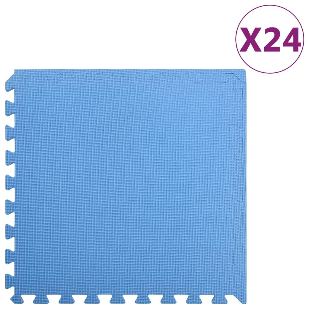vidaXL Podložky puzzle 24 ks 8,64㎡ EVA pena modré