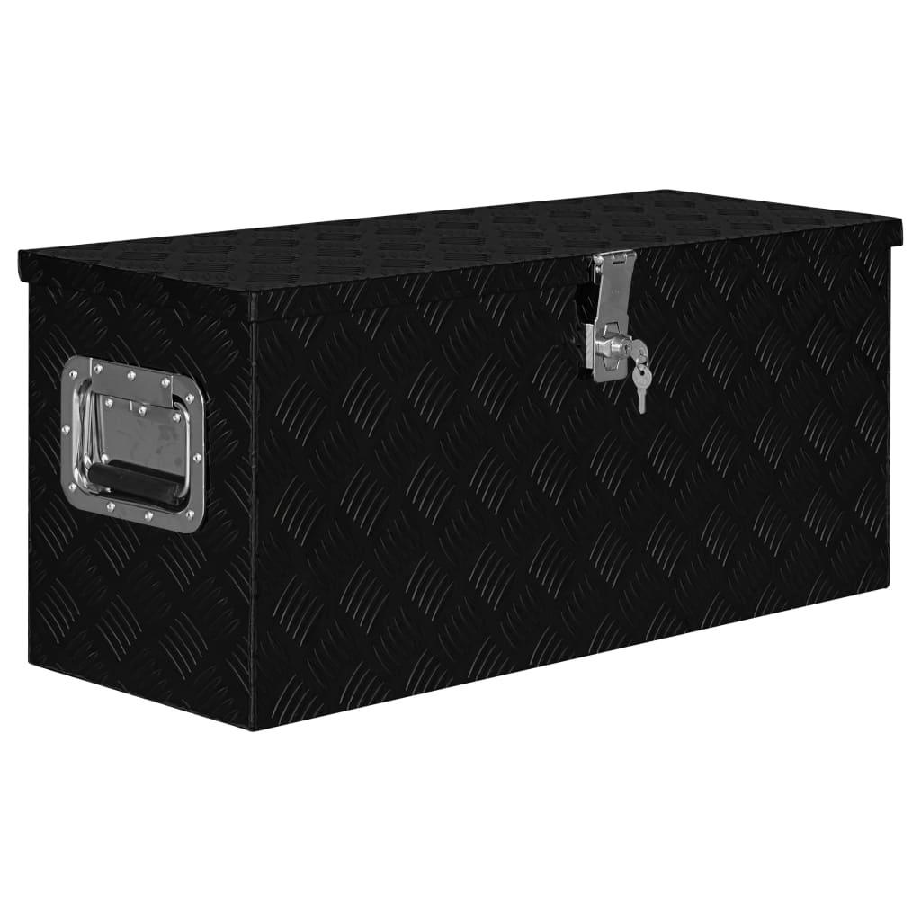 vidaXL Hliníkový box 80x30x35 cm čierny