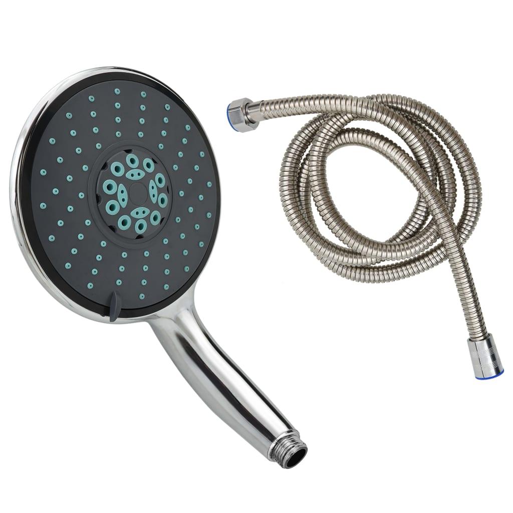 vidaXL Multifunkčná ručná sprchová hlavica s 1,5 m hadicou chróm