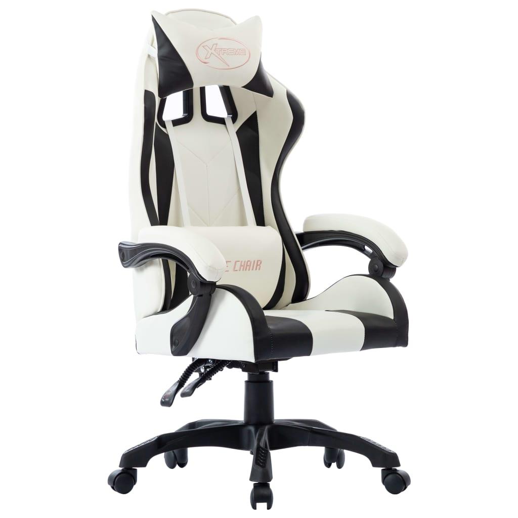 vidaXL Herná stolička, čierna, umelá koža