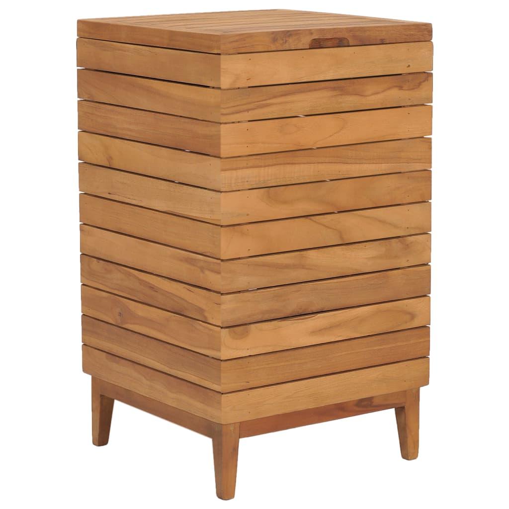 vidaXL Kôš na bielizeň 40x40x70 cm masívne teakové drevo