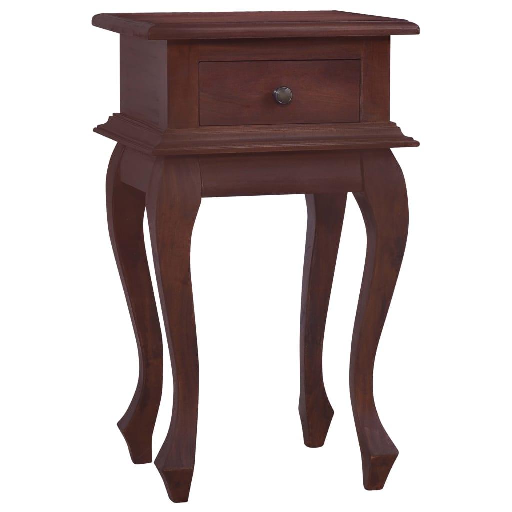 vidaXL Nočný stolík klasický hnedý 35x30x60 cm masívne mahagónové drevo
