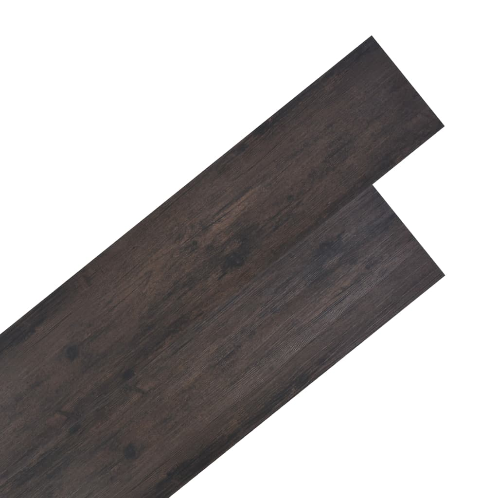 vidaXL Podlahové dosky z PVC 4,46 m² 3 mm, tmavohnedé