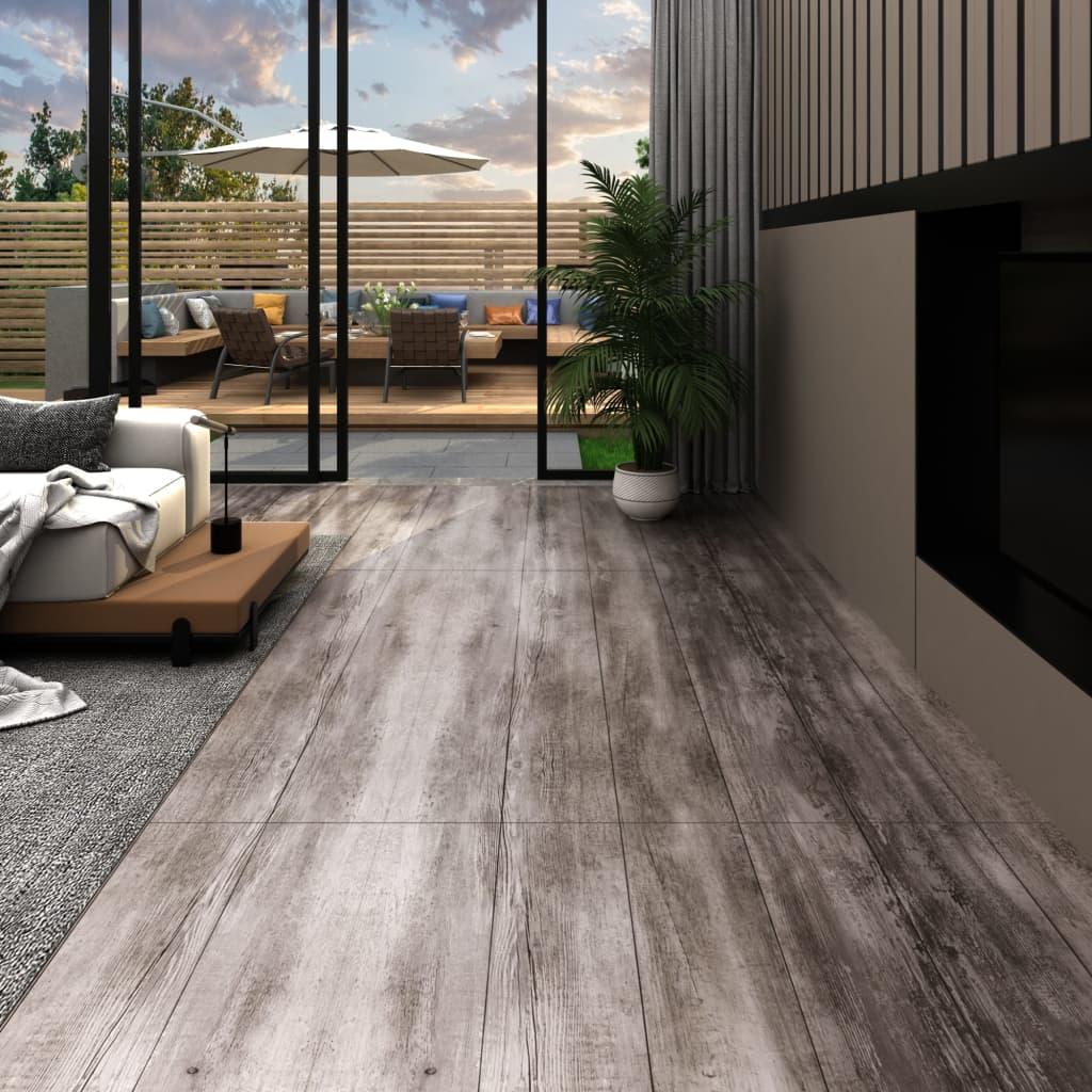 vidaXL Podlahové dosky z PVC 5,02m² 2mm, samolepiace,matné drevo,hnedé