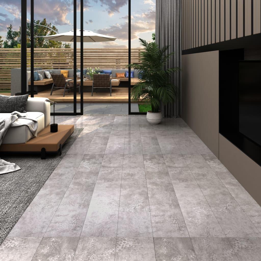 vidaXL Podlahové dosky z PVC 5,26 m² 2 mm, zemité sivé