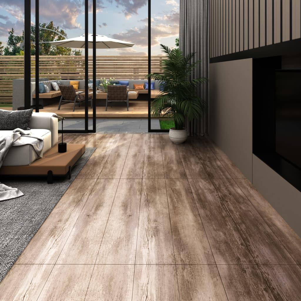 vidaXL Podlahové dosky z PVC 5,26 m² 2 mm, ošúchané drevo