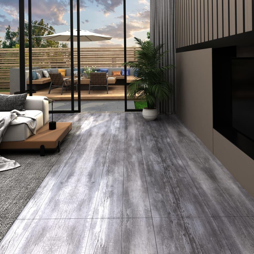 vidaXL Podlahové dosky z PVC 5,26 m² 2 mm, matné drevo, sivé