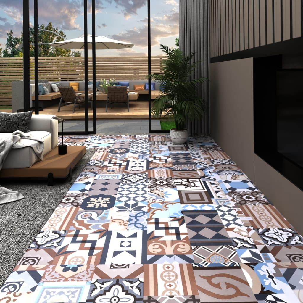 vidaXL Podlahová doska z PVC, samolepiaca 5,11 m², mono vzor