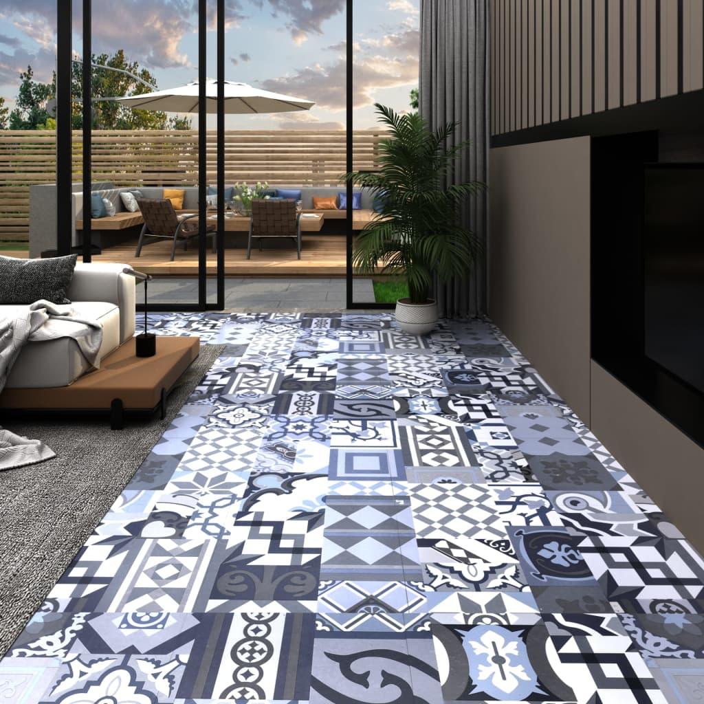 vidaXL Podlahová doska z PVC, samolepiaca 5,11 m², farebný vzor