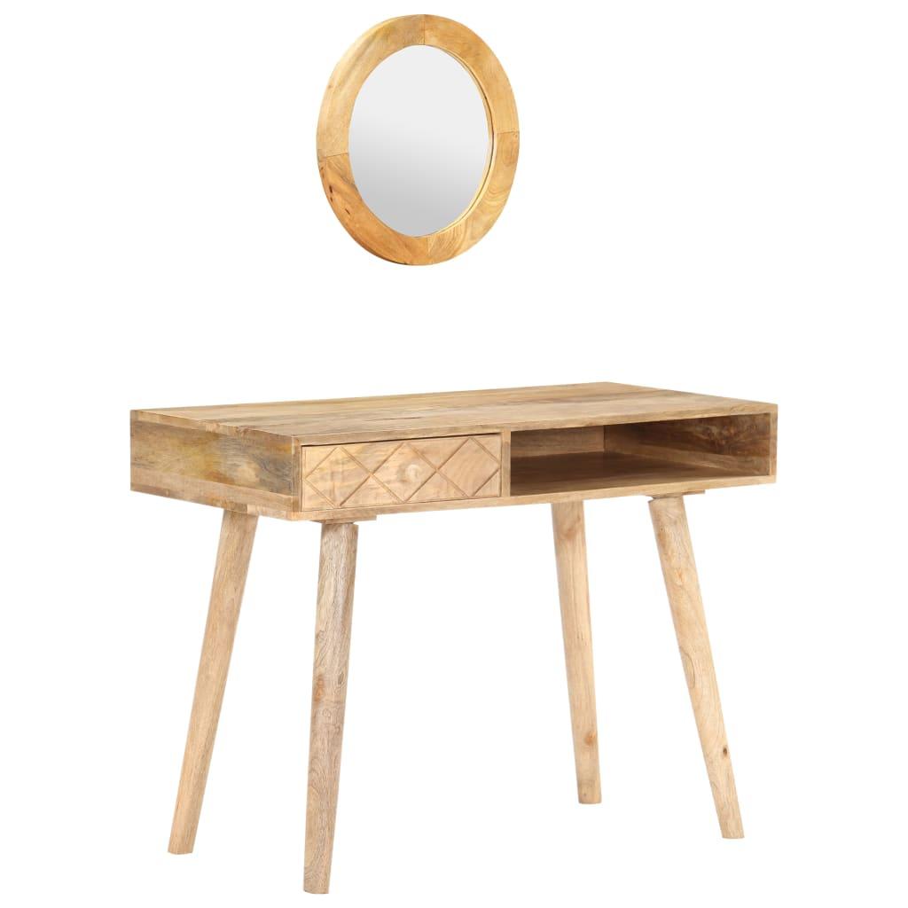 vidaXL Toaletný stolík 100x50x76 cm masívne mangovníkové drevo